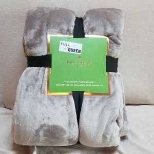 NWT Kate Spade Full/Queen Fleece Blanket